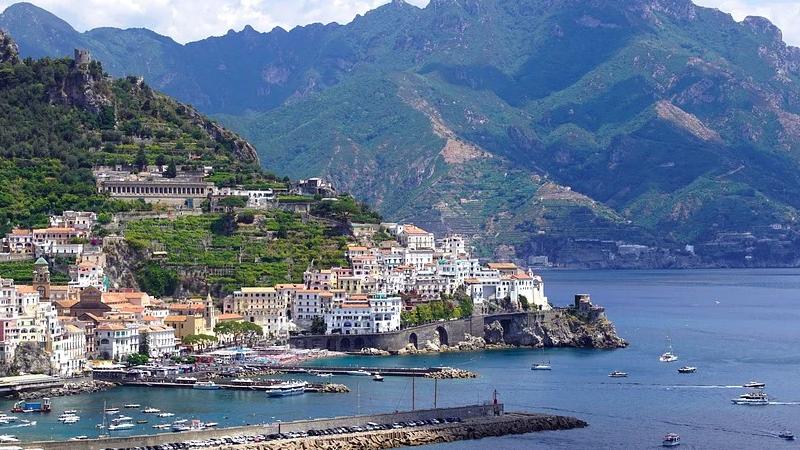 Amalfi-Küste, Italien, Meer