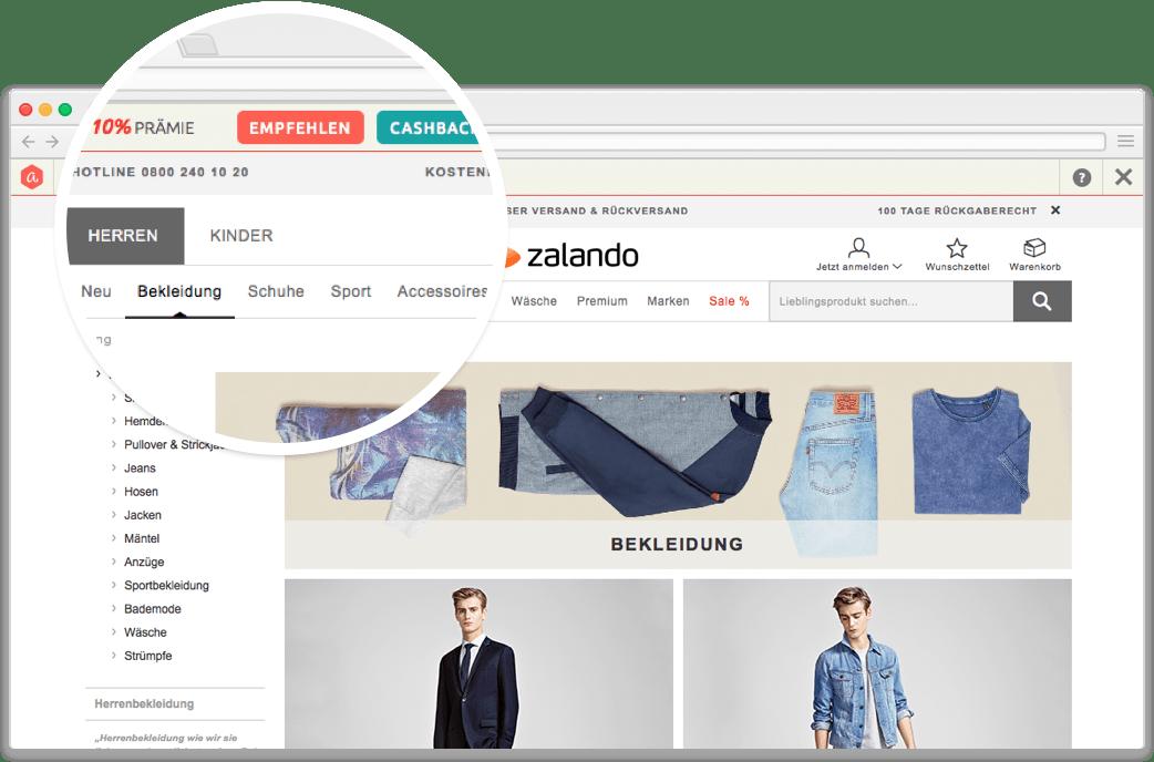 browser-cashbar Aklamio