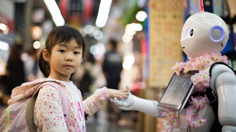 Kind, Mädchen, Roboter, Technologie, Aufklärung, Bundeszentrale für digitale Aufklärung