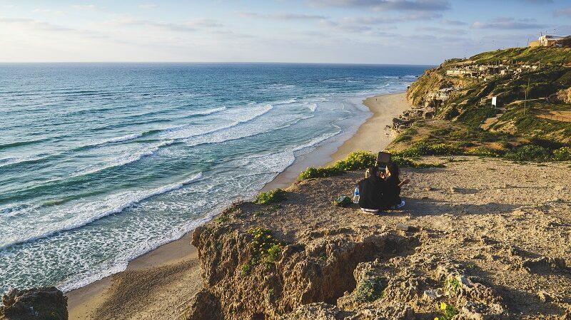 Klippe, Strand, Meer, Wasser, Frankreich