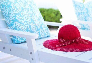 Liegestuhl, Liegen, Sommer, Garten, Sonnenhut, Urlaub