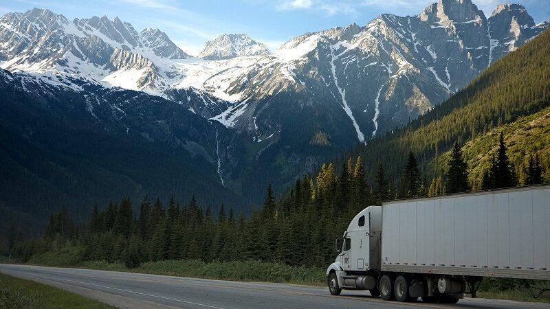 Lkw, Lastwagen, Transport, Berge, Landschaft