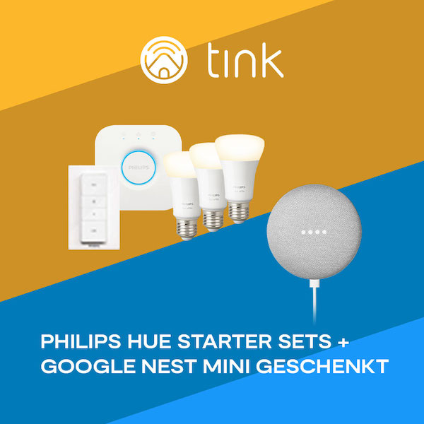 Philips Hue und Google Nest Mini tink Summer Sale