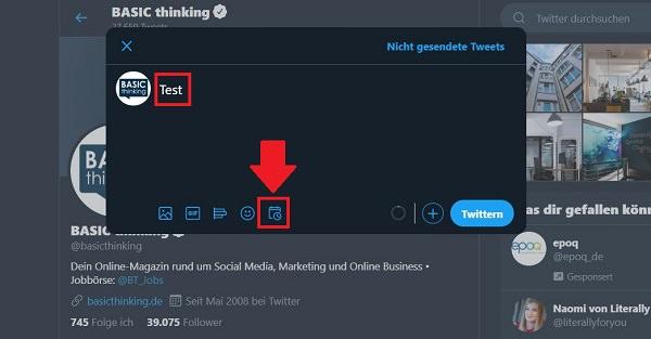 Tweets planen, Tweets vorplanen, Tweets einplanen, Twitter planen