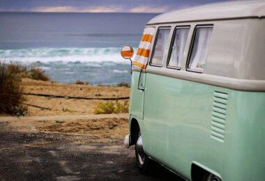 Wohnmobil, Van, Campervan, Meer, Strand, Meerblick, Urlaub, Ferien