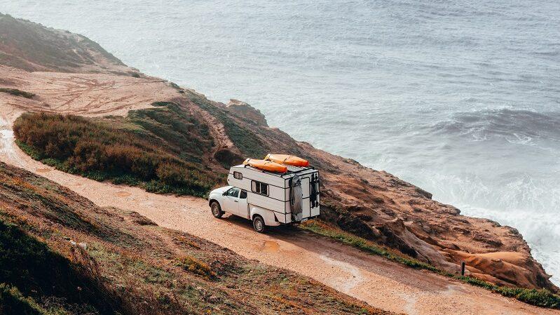 Wohnmobil, reisen, Vanlife, Küste, Wasser, Portugal, Nazaré