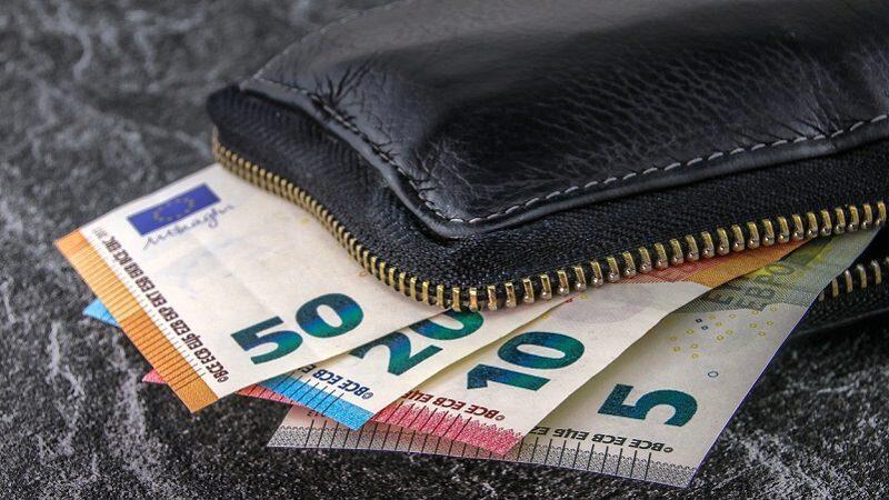 Geld, Geldbeutel, Gehalt, Durchschnittsgehalt, Euro