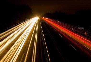 Autobahn, Verkehr, Pendler, Pendelverkehr, Straßenlichter