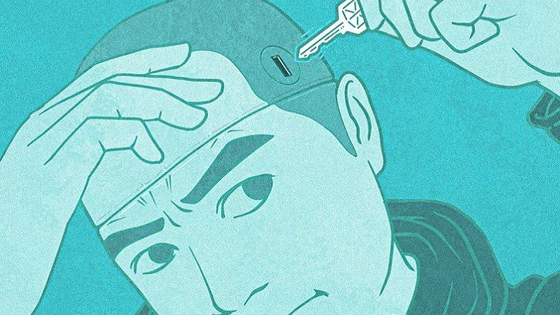 Gehirn, Kopf, Schlüssel, Gedanken, Zugang, Barrieren überwinden