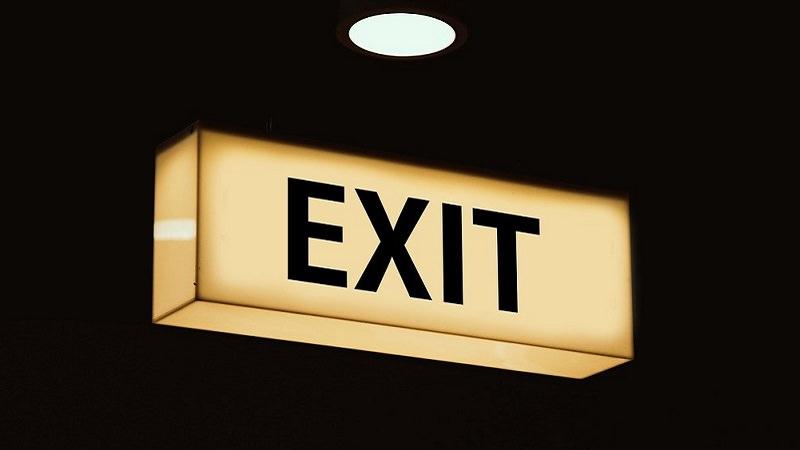 Exit, Ausgang, Exit-Schild, Abschluss, Probezeit-Kündigung, Probezeit kündigen