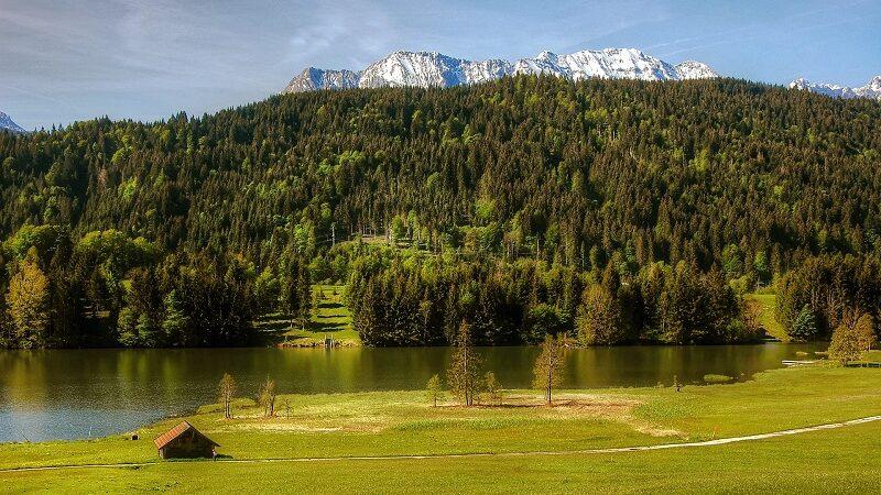 Geroldsee, Gebirge, Landschaft, See, Wasser, Bayern