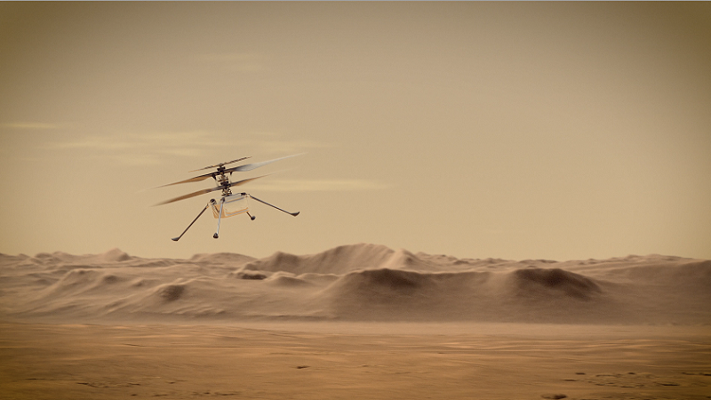 Ingenuity, Helikopter, Perseverence, Mars, Nasa, Raumfahrt