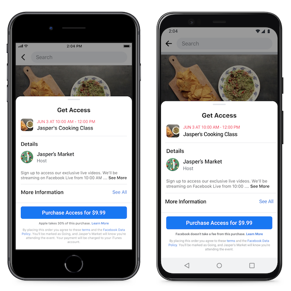 Facebook, Facebook-Events, Veranstaltungen