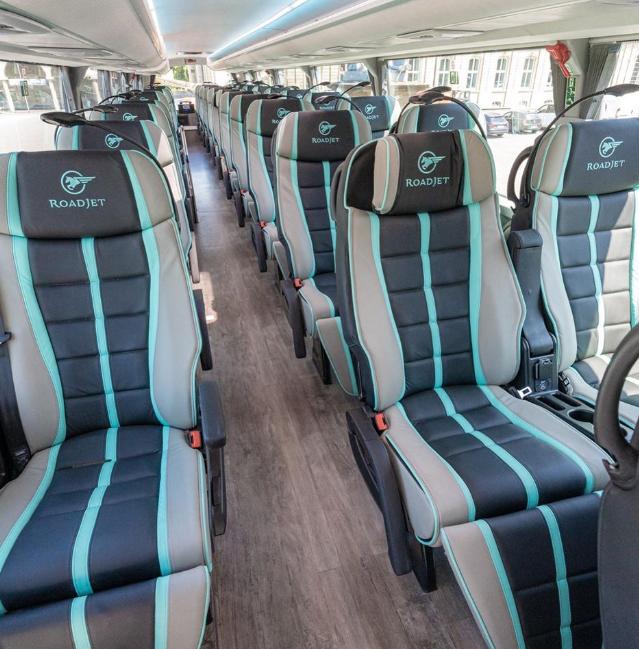 Roadjet, Bus, Fernbus, Sitze, Beinfreiheit