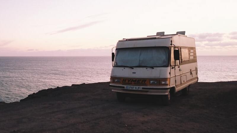 Camper, Campingwagen, Küste, Campervan, Wasser, Meer