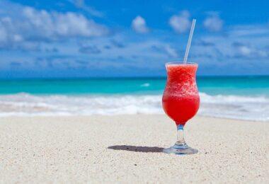 Strand, Urlaub, Meer, Cocktail, Sandstrand, Stand, Abwesenheitsnotiz
