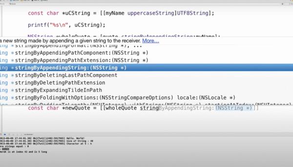 Objektive-C, Programmiersprache