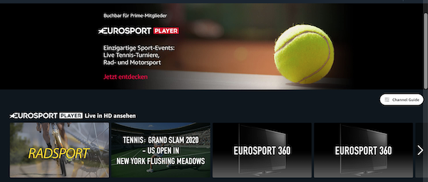 Eurosport Player Amazon
