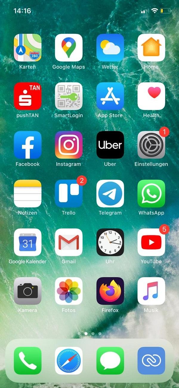 Homescreen, iPhone, Apple, Apps, Oleg Shmykov, Booksana, Netfame