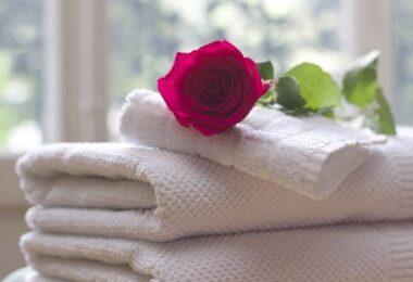 Rose, Handtücher, Hotel