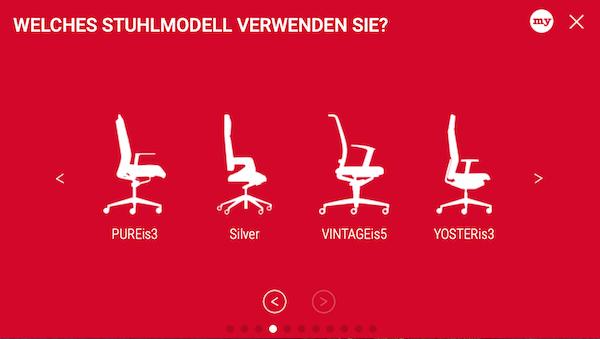 Interstuhl: Modell auswählen