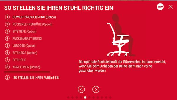Interstuhl: Stuhl richtig einstellen