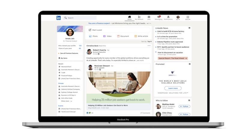 LinkedIn, LinkedIn-Design