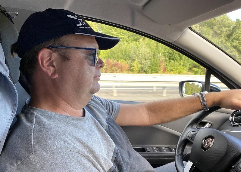 Michael Bader, Autofahrer, Autofahrt