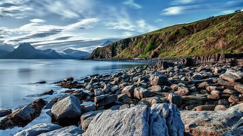 Küste, Meer, Wasser, Berge, Natur, Landschaft, Klimaschutz