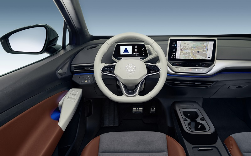 Volkswagen ID.4 Innenraum, VW, SUV, Elektroauto, Touchscreen