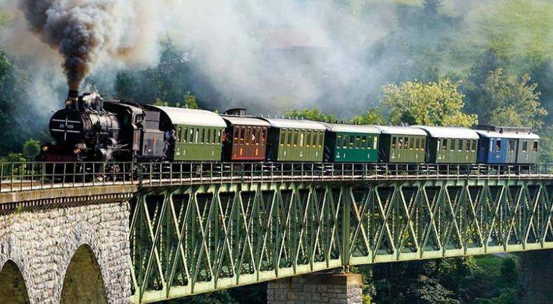 Wocheinerbahn, Museumszug, Slowenien, Eisenbahn, Zug