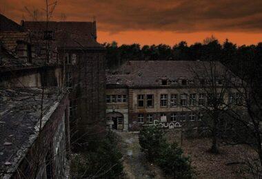Beelitz Heilstätten, Ruine, Architektur, Potsdam, Sonnenuntergang