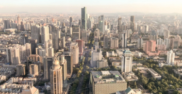Nanjing, China, Wolkenkratzer