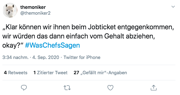 Jobticket, Twitter