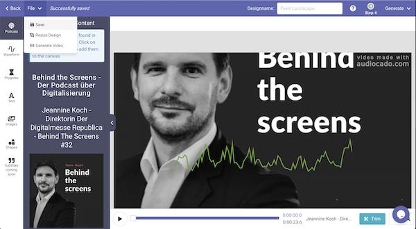 Audiocado, Videos schneiden, Podcast