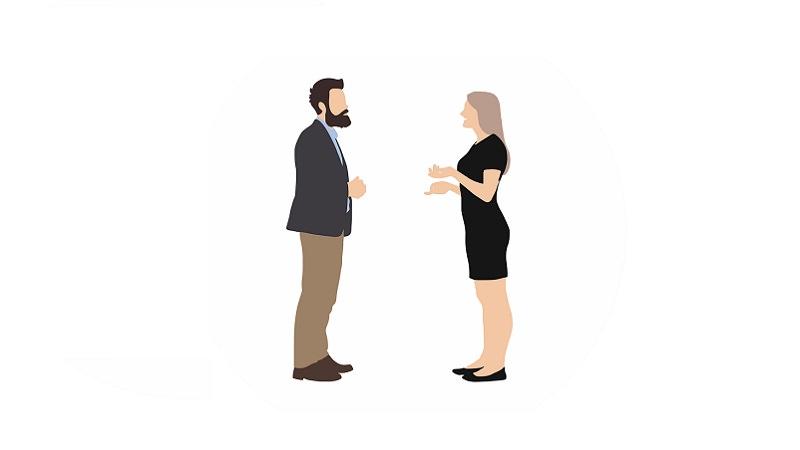 Gespräch, Unterhaltung, Bewerbungsgespräch, eigene Fragen im Bewerbungsgespräch