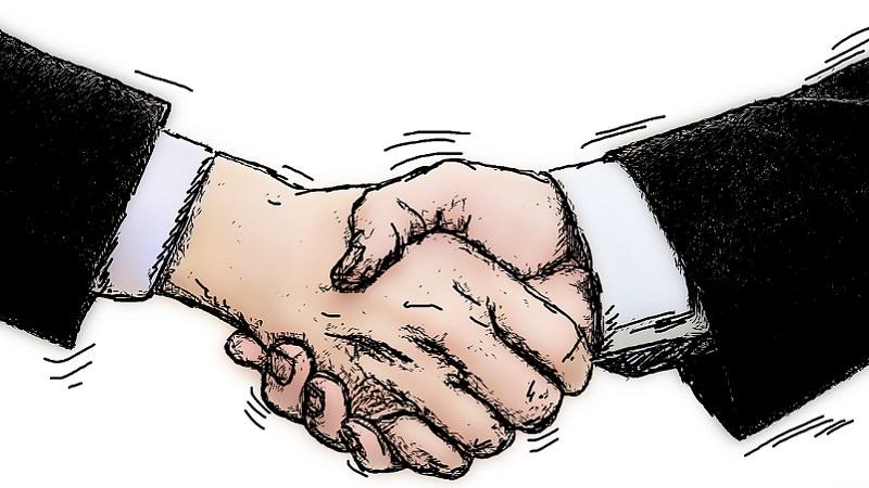 Handschlag, Handshake, Arbeitsvertrag verhandeln