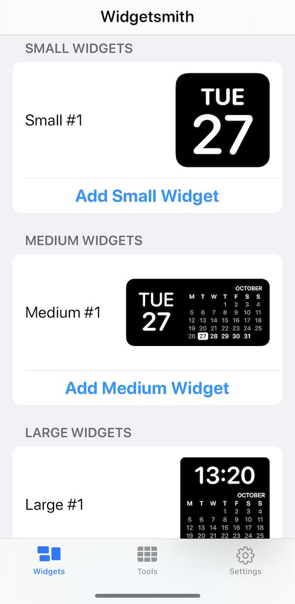 iPhone-Widget