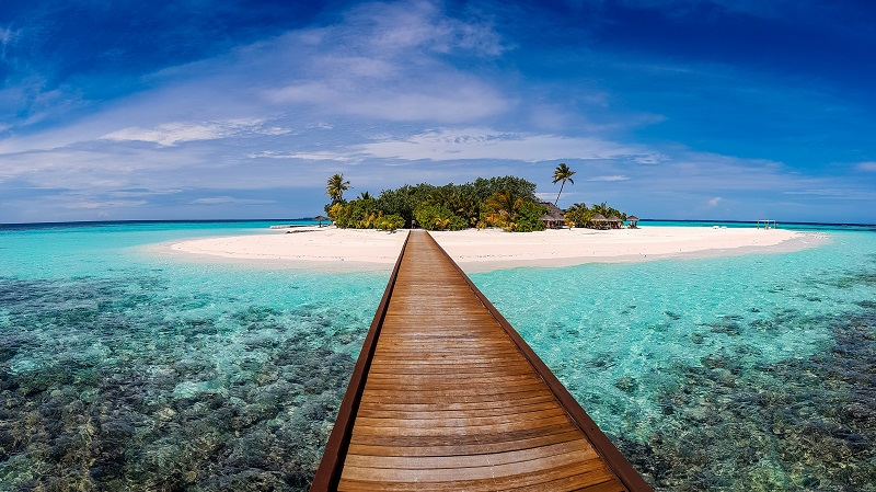 Malediven, Insel, Boot, Meer, Asien