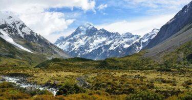 Neuseeland, Alpen, Gebirge, Berge, Tal, Natur