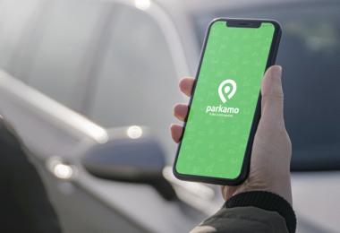 Parkamo, App, Parken, Auto