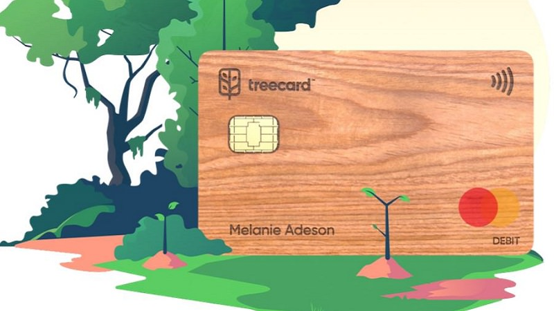 Treecard, grüne Debitkarte Ecosia