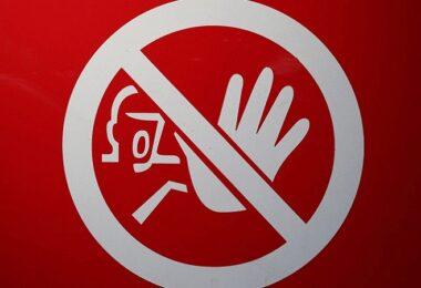Verbot, Verbotsschild, Stop, Halt, verbotene Fragen
