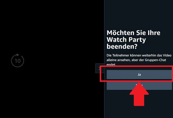 Amazon Watch Party, Prime Watch Party, Amazon Watch Party starten