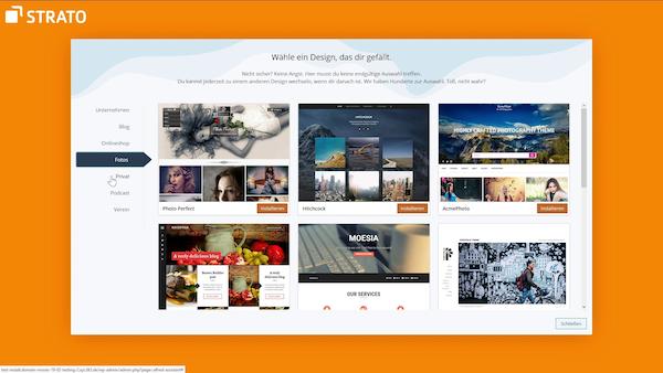 WordPress Hosting STRATO Themes