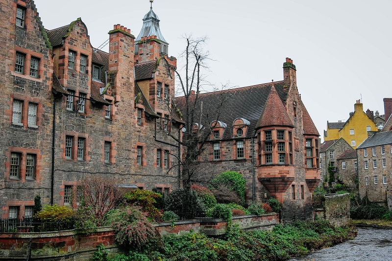 Dean Village, Edinburgh, Schottland, UK