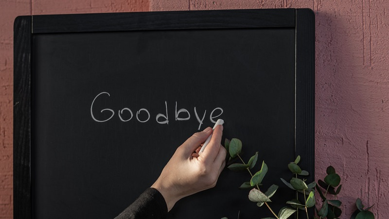 Goodbye, Abschied, Verabschiedung, Fragen vor der Kündigung