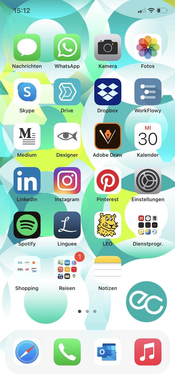 Homescreen, iPhone, Apple, Apps, Martina Hausel, ELEMENT C, Element C