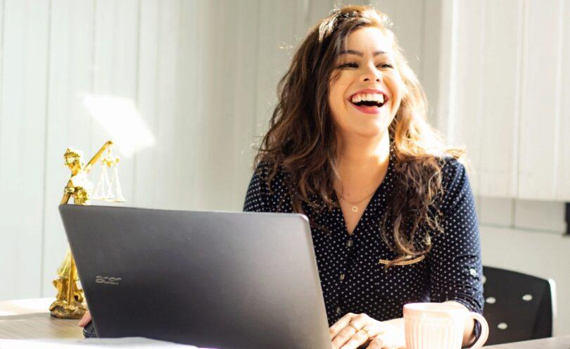 Frau, Lachen, Glücklich, Young Professionals