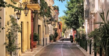 Plaka, Athen, Griechenland, Europa, Gasse